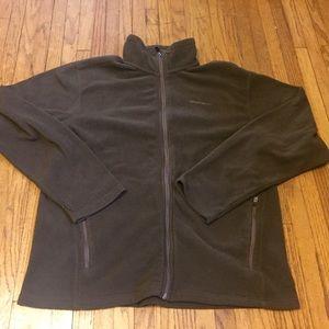 Eddie Bauer Men's Fleece Jacket Polartec Brown Med